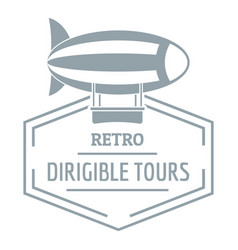 Dirigible logo simple gray style vector