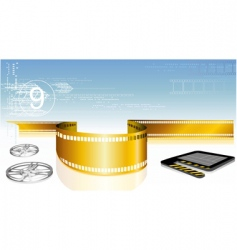 film with clap board vector image vector image