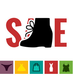 Footwear sale icon vector