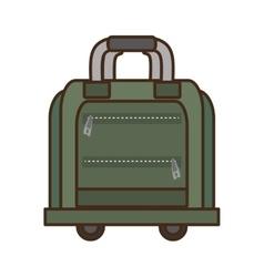 Green bag briefcase traveler business vacation vector