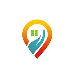 house location media icon GPS logo vector image vector image
