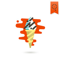 ice cream in a cone vector image