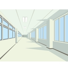 Interior of school or college hall vector