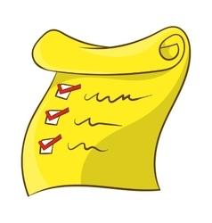 List icon cartoon style vector image