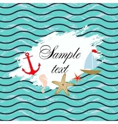 Marine background Template design vector image