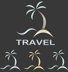 Metallic travel logo template vector image vector image