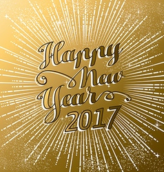 New Year 2017 gold firework explosion design vector image