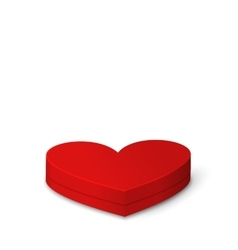 Red Gift Box in Heart Shaped for Valentines Day vector image vector image