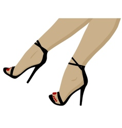 Red pedicure vector