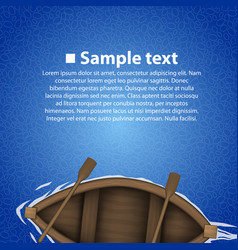rowing boat background vector image vector image