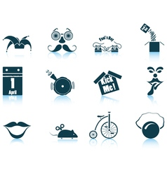 Set of April Fools day icons vector image