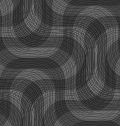 Shades of gray textured crossing waves vector image