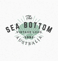 Shell Vintage Retro Design Elements for Logotype vector image vector image
