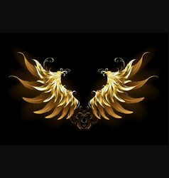 shiny angel wings vector image vector image