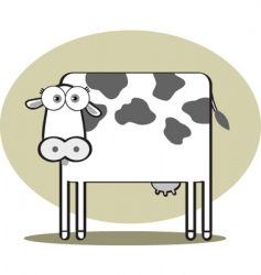 square animal cow vector image vector image