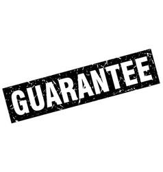 Square grunge black guarantee stamp vector