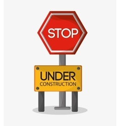 Stop of under construction design vector