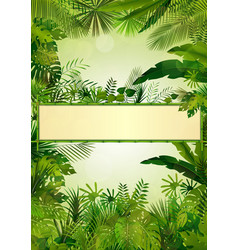 tropical background frame vector image vector image