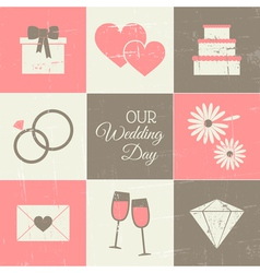 Wedding Day Collection vector image vector image