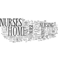 where to find a home nurse text word cloud concept vector image