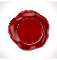 Wax seal isolated vector