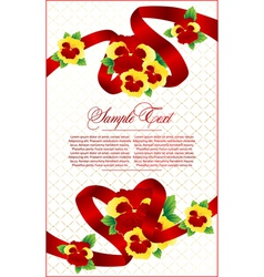 floral card vector image