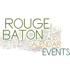 Baton rouge campgrounds text background word vector
