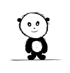 Panda bear for your design vector image