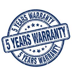 5 years warranty stamp vector