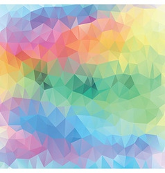 Pastel pattern of geometric shapes spring mosaic b vector