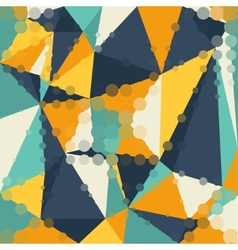 Abstract graphic background of polygon triangle vector image