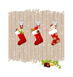 Christmas fence vector