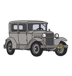 Gray vintage car vector