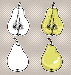 Set of pear icons vector