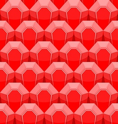 Ruby seamless pattern background of red gems vector