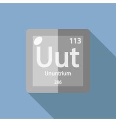 Chemical element ununtrium flat vector