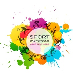 Sport background - colorful vector