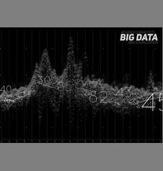 Abstract monochrome financial big data vector