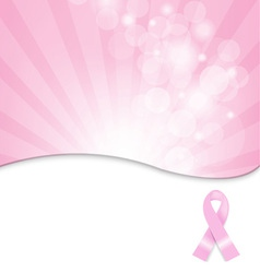 Breast Cancer Society Background vector image