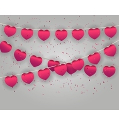 Celebrate heart banner with confetti vector image vector image