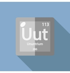 Chemical element ununtrium flat vector