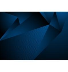 Dark blue abstract concept polygonal tech vector