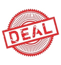 Deal stamp rubber grunge vector