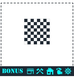 Empty chess board icon flat vector image vector image