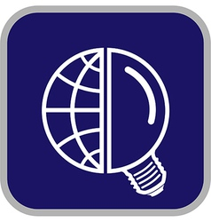 globe and lamp icon vector image