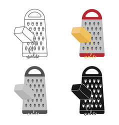 Grating cheese icon in cartoon style isolated on vector