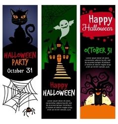 Halloween vertical banners vector image