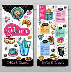 Hand drawn menu vector