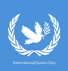 International justice day vector