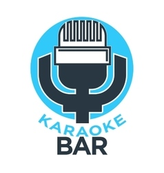 Karaoke club and bar label or logotype vector image